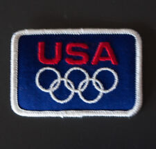 """Vintage USA OLYMPIC Rings Embroidered 2x3""""  Patch - NEW  Old Stock"""