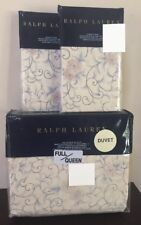 Ralph Lauren *Madalena Audrey* 3 Pcs Full/Queen Duvet Cover & Shams - Tan - New