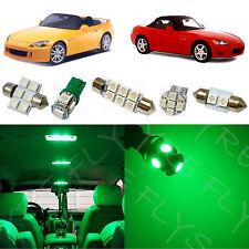 4x Green LED lights interior package kit for 2000-2009 Honda S2000 HS1G