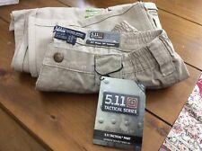 "Mens 5.11 Tactical Pants 74251 100% Cotton Trousers Khaki 34"" Waist 30"" Leg (v)"