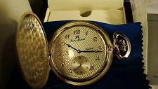 Jean Marcel Sterling Silver.925 Planum Pocketwatch Lim Edition Swiss Mechanical