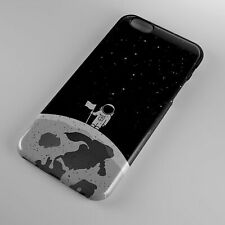 Astronaut SpaceMan Stand On Moon With White Flags Space Galaxy Phone Case Cover