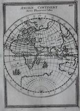 Original antique map OLD WORLD, EASTERN HEMISPHERE, ISLES, SHIPS, Mallet 1683