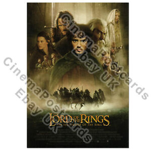 Lord Fellowship of the Rings POST CARD (2001 1/s Poster Art Ian McKellen Elijah)