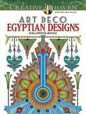 Art Deco EYGYPTIAN DESIGNS Coloring Book