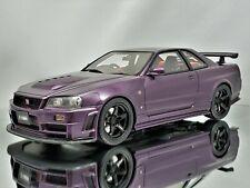 Otto Mobile Nissan Skyline GT-R R34 Nismo Z-Tune Midnight Purple Black Rims 1:18