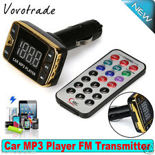Wireless Car Kit Fm Transmitter Modulator Mp3 Player Usb Sd Tf Mmc Lcd Remote