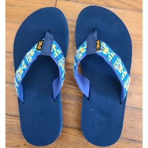 Teva Mush Blue Big Girl Flip Flops Sandals Size 4