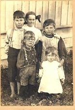 "Antique Cabinet Card ""OUR GANG""  Neighborhood Kids - Circa 1930's I.D."