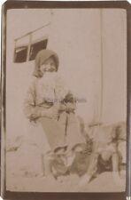 Balcani Giovane fille Grecia MacedoniaVintage Citrato ca 1915 Piccolo Formato
