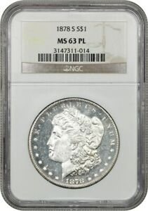 1878-S $1 NGC MS63 PL - Morgan Silver Dollar - Affordable Prooflike Morgan