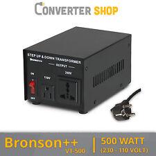 Bronson++ VT 500 Watt Transformateur / USA 110 Volt Converter / Convertisseur