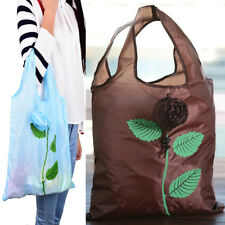 1xMulti-color Rose Reusable Eco Bags Foldable Shopping Travel Grocery Bag ER
