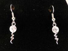 Austrian Crystal 18k White Gold Plated Thunderbolt Earrings