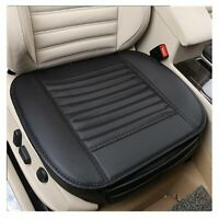 Breathable Car Front Seat Cushion Chair Protector Pad Mat Covers PU Leather UK