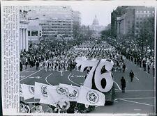 1973 Bandsmen March Pennsylvania Av For Inaugural Parade Event Wirephoto 7X9