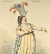 Gillray - A Bravura Air Mandane 1849 Original Elizabeth Billington Oper Sänger