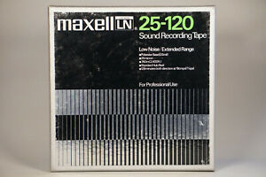 Tape MAXELL LN 25-120 extended range low noise Tonband neuwertig for pro use