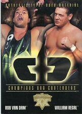 2004 FLEER WWE WRESTLEMANIA XX ROB VAN DAM EVENT WORN MEMORABILIA