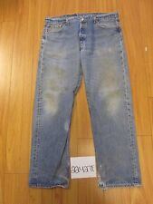 levi 501 feather destroyed grunge jean tag 42x34 Meas 37x31 22427F