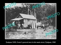 OLD LARGE HISTORIC PHOTO OF TYALGUM NSW, VIEW OF THE FOSTERS GENERAL STORE c1908