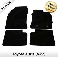 Toyota Auris Mk2 E180 2012 onwards Tailored LUXURY 1300g Carpet Floor Mats BLACK