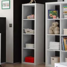 Regalsystem Raumteiler Style 4 Bücherregal Büro Regal in weiß mit 4 Fächern 4x1