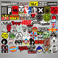 100Pcs Stickers Lots Rock Band Punk Music Heavy Metal Bands Laptop Car Bumpers