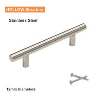1 x Φ12mm T Bar Kitchen Cabinet Door Handles Stainless Steel Drawer Pull Knob