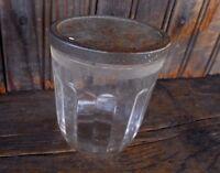 VINTAGE Hazel Atlas CLEAR GLASS JELLY JAM REFRIGERATOR JAR w Lid Farmhouse