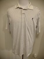 Ralph Lauren Polo Mens White Striped Short Sleeve Shirt Size L High Quality