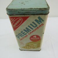 Nabisco Premium Saltines Crackers Tin in English and Spanish Vintage Collectible