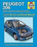 Haynes Manual 3757 1998-2001 Peugeot 206 1.1 1.4 1.6 L LX S GLX Petrol & Diesel