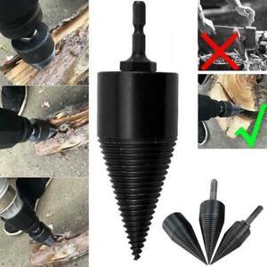 High Speed Twist Firewood Drill Bit Wood Splitter Screw Cone Driver