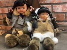 2 New alaskan friends dolls one measures 11