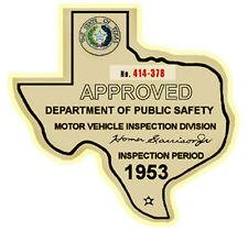 1953 Texas Road Inspection Water Slide Decal Street Rat Flathead Ford Hot Rod