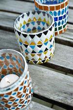 Teelichthalter Glas Mosaik bunt Orient orientalisch Ethno, Pomax Belgien
