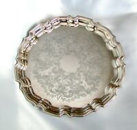 """Marlboro Silverplate Serving Tray, 14"""" Round Canadian Silver Plate Platter"""