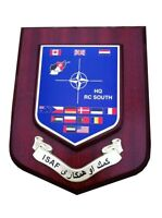 ISAF Wall Plaque International Security Assistance Force Military