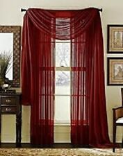 "Sheer / Scarf Window Treatments Curtains Drape Valances 63"" 84"" 95"" Brick"