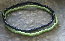 2 Surfer Bracelet Rubber Surf Light Green Black Men's Women's