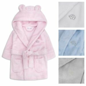 Embroidered Personalised Soft Baby Dressing Gown Bath Robe Teddy EARS