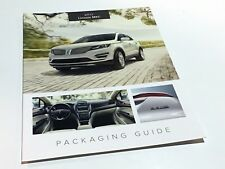 2015 Lincoln MKC Packaging Guide Brochure