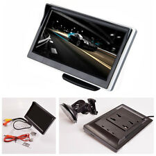 """5"""" Car TFT LCD HD Digital Monitor 2 Way Video Input Colorful For Rearview Camera"""