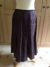 GORGEOUS JACQUES VERT BROWN HIGH SHINE CRINKLE EFFECT LONG SKIRT UK SIZE 12 BNWT