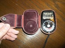 Weston: MASTER II UNIVERSAL EXPOSURE METER IN LEATHER CASE + CORD