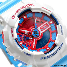CASIO G-SHOCK Big Case Red & Blue Watch GShock GA-110AC-7A