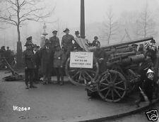 """New Zealand Army With Captured Field Guns London 1918 World War 1, 5x4"""" Reprint"""