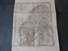1800 BEAUTIFUL ENGRAVING MAP SWEDEN NORWAY ENGRAVER J.RUSSELL