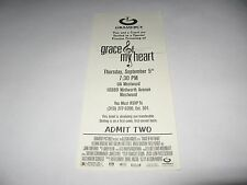 RARE 1996 GRACE OF MY HEART PREMIERE SCREENING MOVIE TICKET - JOHN TURTURRO